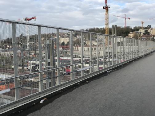 Protections caténaires gare de Pontoise